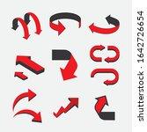 arrow pointer web icon flat on... | Shutterstock .eps vector #1642726654