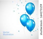 vector background with blue... | Shutterstock .eps vector #164273159