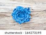 Handmade Flower Leather Brooch