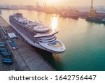 Small photo of Cruise passengers ship berthing in the port services to the passenger sailing to destination port, restriction quarantine healthcare to all berthing ports