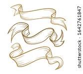 vintage scrolls set. retro...   Shutterstock .eps vector #1642761847