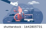 fed up work concept  flat tiny... | Shutterstock .eps vector #1642805731
