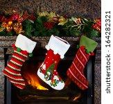 Christmas Stocking On Fireplac...