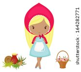 little red riding hood with a... | Shutterstock .eps vector #164282771