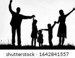 happy family by the sea on...   Shutterstock . vector #1642841557