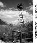 Windmill In The Central Arizona ...