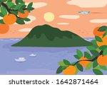hand drawn landscape...   Shutterstock .eps vector #1642871464
