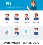 flu disease symptoms and... | Shutterstock .eps vector #1642877377