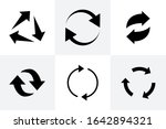 recycle icon. recycle arrow... | Shutterstock .eps vector #1642894321