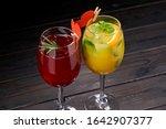 tasty cocktails for valentine... | Shutterstock . vector #1642907377
