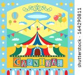 colorful carnival poster or... | Shutterstock . vector #164290811