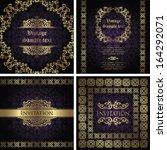 set of vintage frames. vintage... | Shutterstock .eps vector #164292071