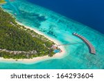 tropical island at maldives  ... | Shutterstock . vector #164293604