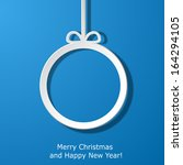 modern xmas greeting card with... | Shutterstock .eps vector #164294105
