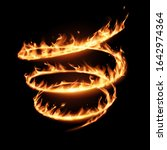 abstract flame spiral whirl on... | Shutterstock .eps vector #1642974364