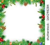 christmas and new year fir tree ... | Shutterstock . vector #164298284