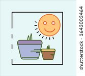 growth of new shoots vector...