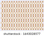 embroidered cross stitch...   Shutterstock .eps vector #1643028577