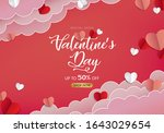 valentines day banner with... | Shutterstock .eps vector #1643029654