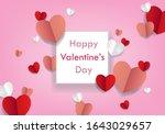 valentine's day concept...   Shutterstock .eps vector #1643029657