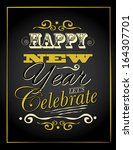 new year type poster... | Shutterstock .eps vector #164307701