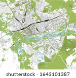vector map of the city of brest ... | Shutterstock .eps vector #1643101387