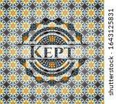 kept arabesque badge. arabic...   Shutterstock .eps vector #1643125831