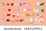 vector isolated set of food...   Shutterstock .eps vector #1643129911