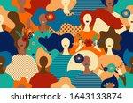 vector seamless pattern women... | Shutterstock .eps vector #1643133874