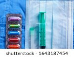 medical mask and other... | Shutterstock . vector #1643187454