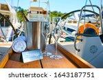 romantic luxury evening on... | Shutterstock . vector #1643187751