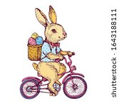 Easter Rabbit  Cute Bunny With...