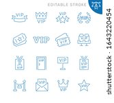 vip related icons. editable... | Shutterstock .eps vector #1643220454