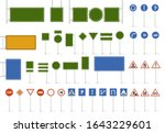 road street sign. direction... | Shutterstock .eps vector #1643229601