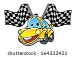 car race flag | Shutterstock .eps vector #164323421