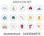 sign icon set. 15 flat sign...   Shutterstock .eps vector #1643264074