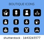 boutique icon set. 12 filled... | Shutterstock .eps vector #1643265577