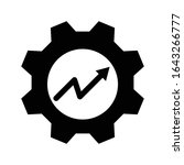 productivity icon. black filled ... | Shutterstock .eps vector #1643266777