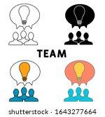 team icon. line style icon...