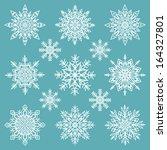 snowflakes set   vector... | Shutterstock .eps vector #164327801