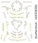 set of cute hand drawn vector... | Shutterstock .eps vector #164328281