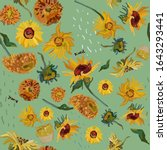 Sunflower Flowers On A...