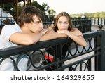 man and woman   | Shutterstock . vector #164329655