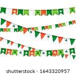 vector flag garland for st.... | Shutterstock .eps vector #1643320957