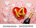 february 14th romantic...   Shutterstock . vector #1643324944