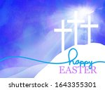 easter background design of... | Shutterstock . vector #1643355301