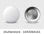 vector 3d realistic white metal ... | Shutterstock .eps vector #1643366161