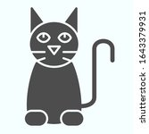 black cat solid icon. sitting...   Shutterstock .eps vector #1643379931