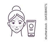 facial skin scrubbing black...