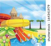 aqua park | Shutterstock .eps vector #164341979